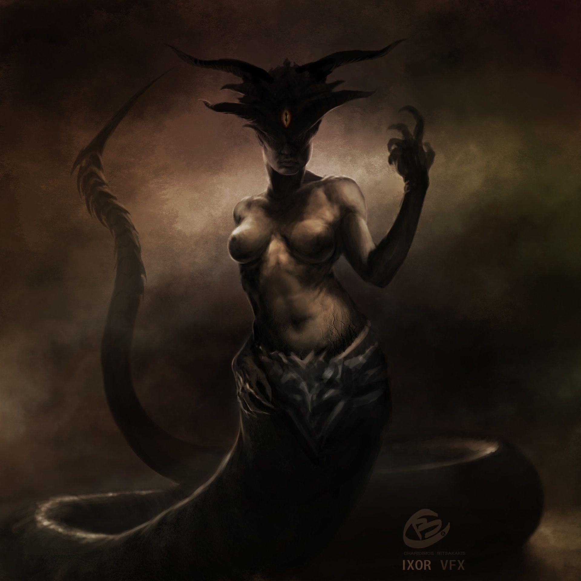 CAMPE/KAMPE - a monstrous Drakaina (she - dragon) who was ...