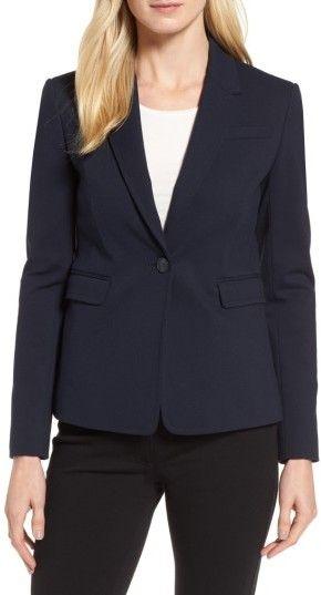 Women's Nordstrom Signature One-Button Crop Blazer