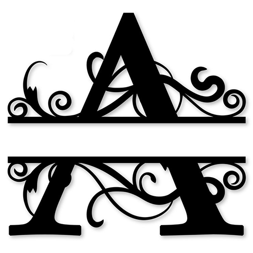 monogram letter die cut vinyl decal pv1320 for windows vehicle windows vehicle body surfaces