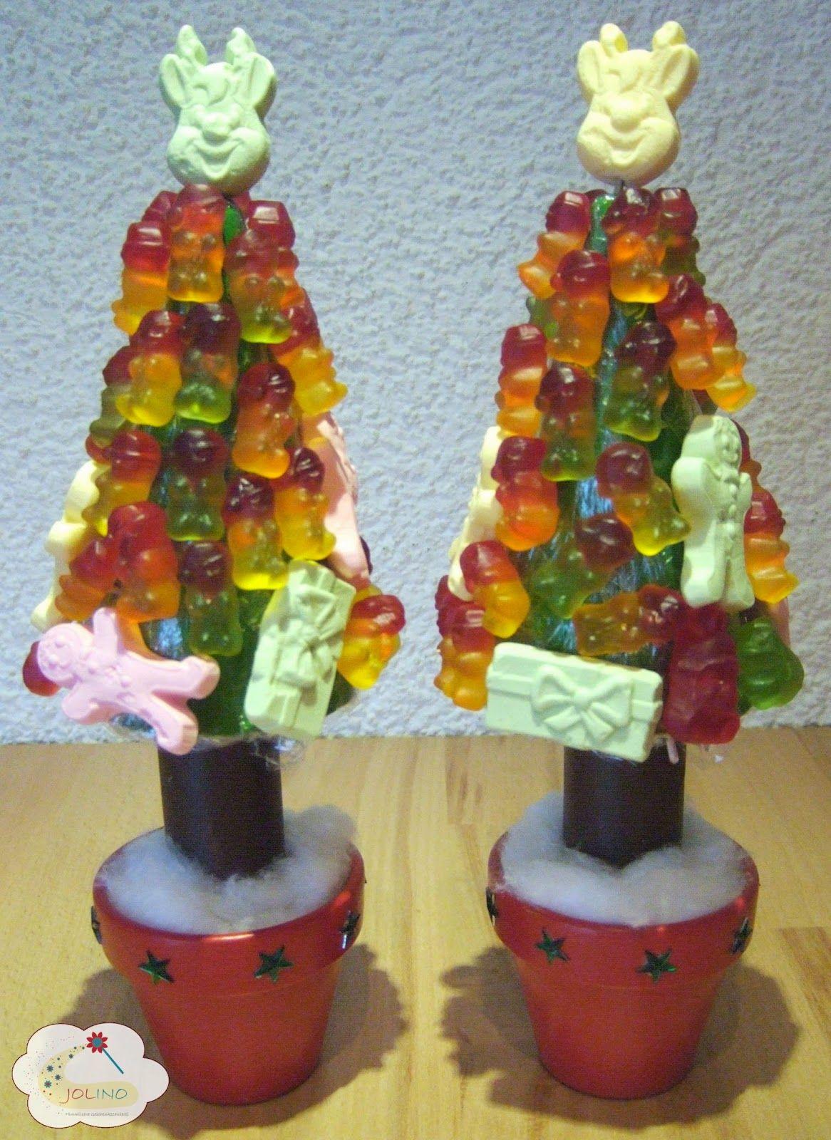 gummib rchenbaum tannenbaum weihnachten s es mitbringsel tontopf basteln geschenke aus der. Black Bedroom Furniture Sets. Home Design Ideas