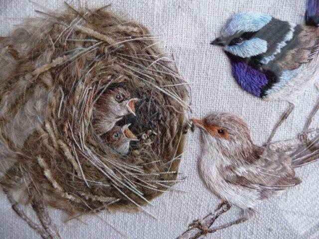 Hand embroidery by Bev Tully