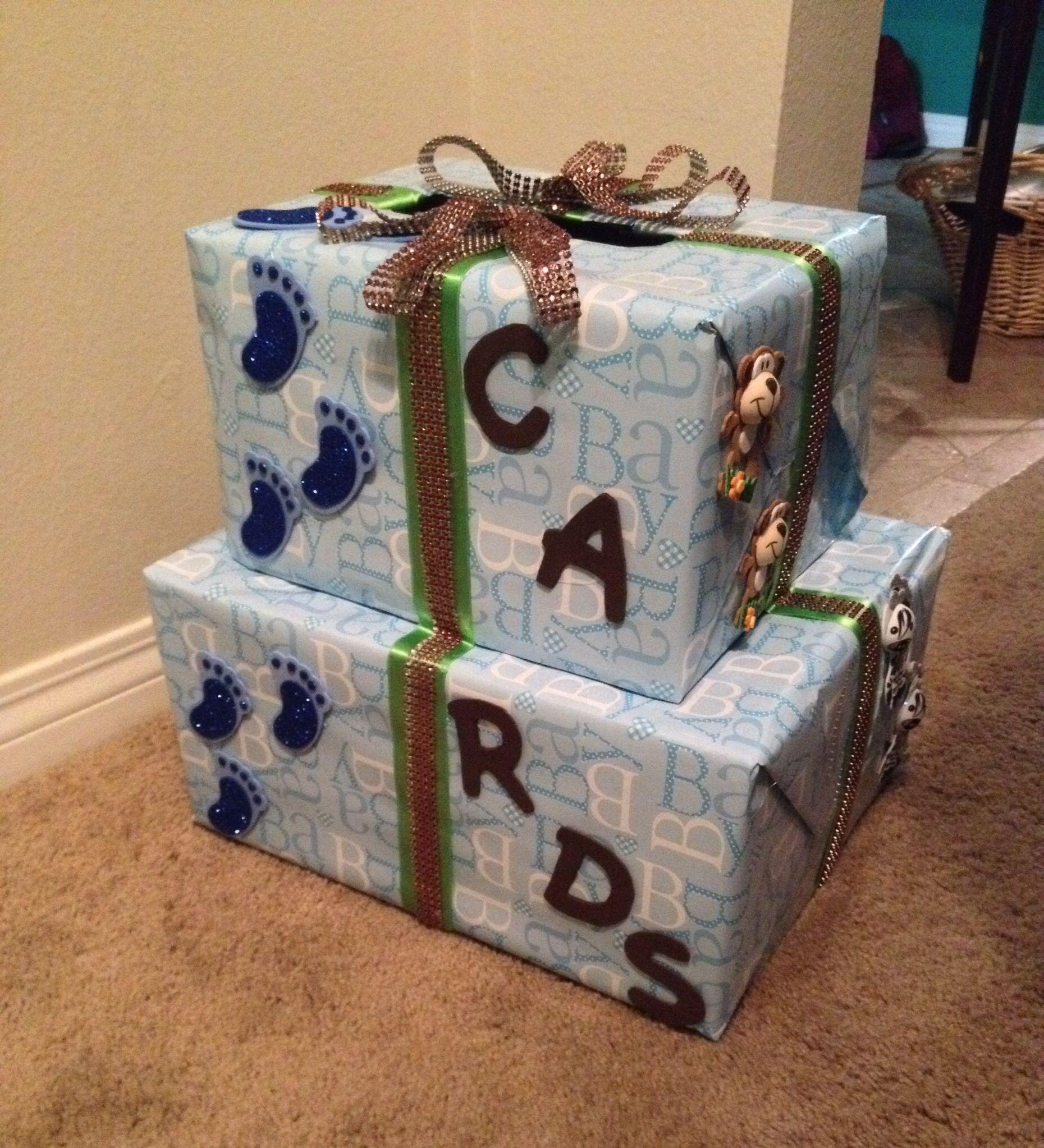 DIY Baby Shower Card Box