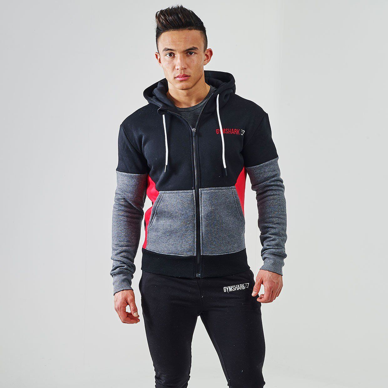 00a6da478ae Gymshark Fit Frontier Thermal Hoodie - Red
