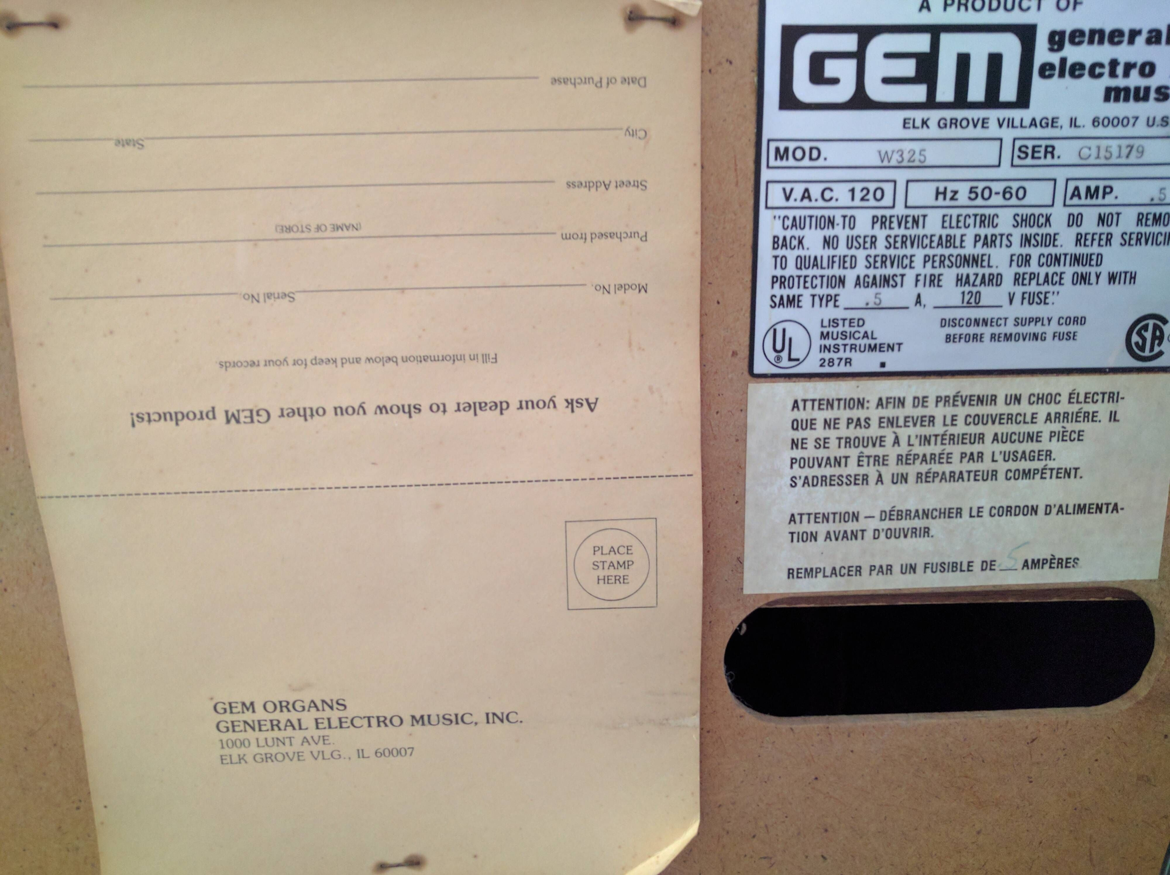 The registration form still stapled to the back of this 40 year-old ...