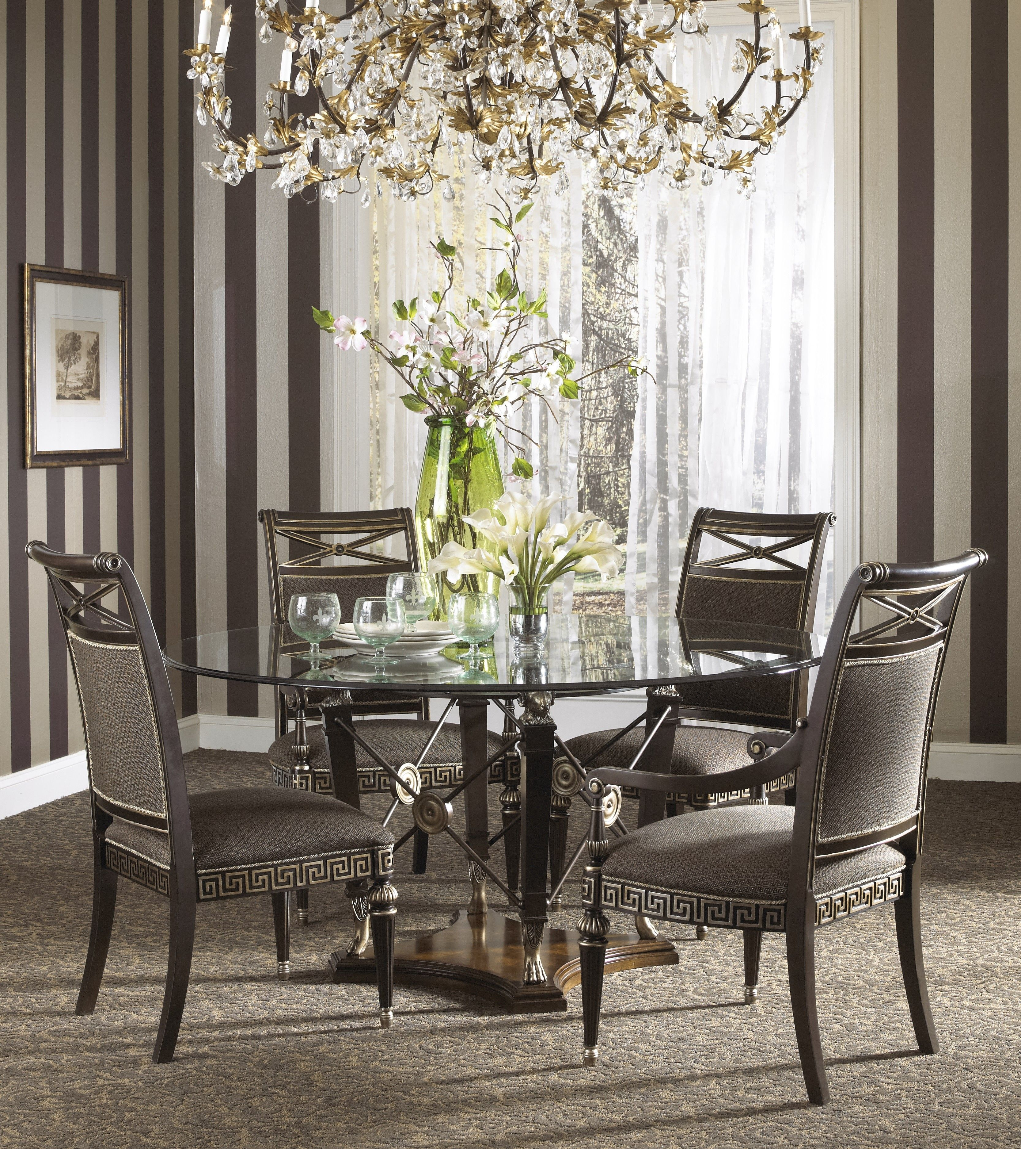 Beau Buy The Belvedere Dining Room Set With Ground Glass Table By Fine Furniture  Design From Www