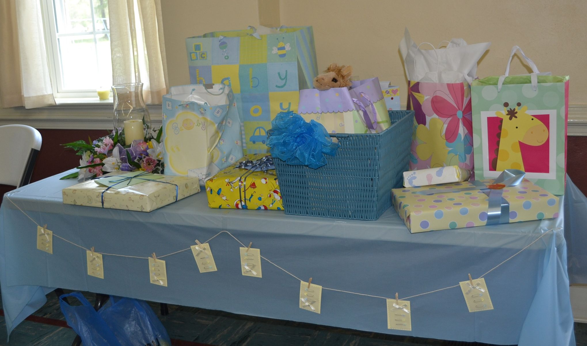 baby shower gift table baby shower ideas pinterest