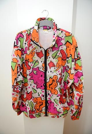 47a8a678 Crazy print 80's bomber jacket | Clothing in 2019 | Jackets, Bomber ...