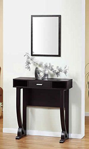 S E Red Coca Console Table Curved Legs And Rounded Corners
