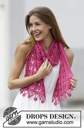 162-7 Brighten Up Scarf - Free pattern @ Drops Design, thanks so xox ...
