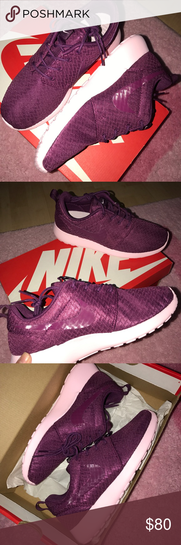 11930df046ec Limited Edition Nike Roshe One Never been worn! Limited Edition Women s Nike  Roshe One in mulberry mulberry-prism pink. Size 7.5 able to fit size 8.