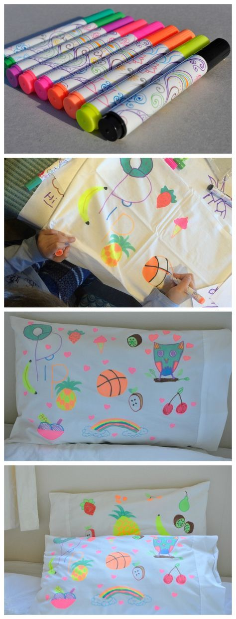 Design Your Own Pillowcase A Fun Activity For Kids  Design Your Own Pillow Case  Party Ideas