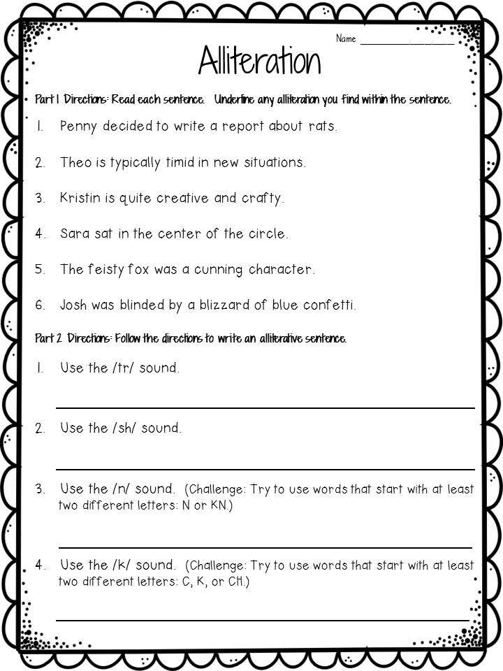 Alliteration Anchor Chart Plus Freebie Reading Class