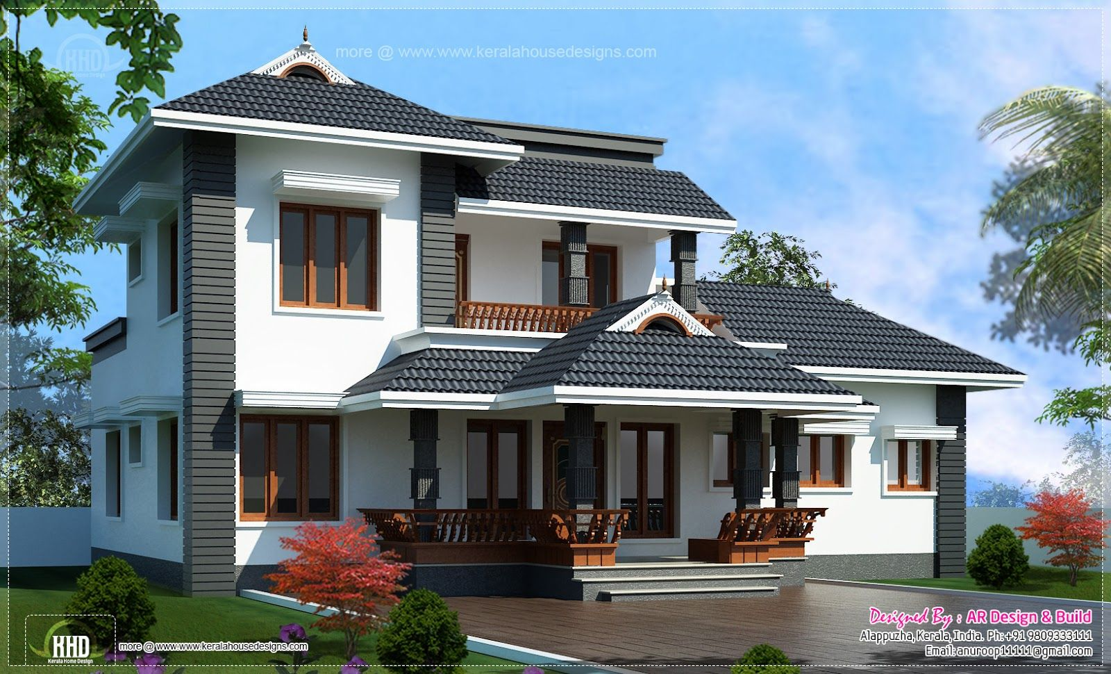 2000 sq.feet 4 bedroom sloping roof residence in 2020