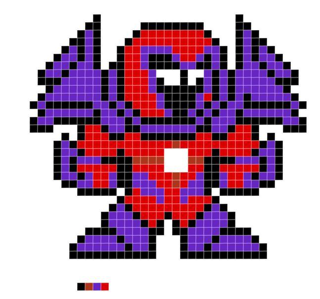 Marvel Comics Onslaught Pixel Art Marvel Cross Stitch
