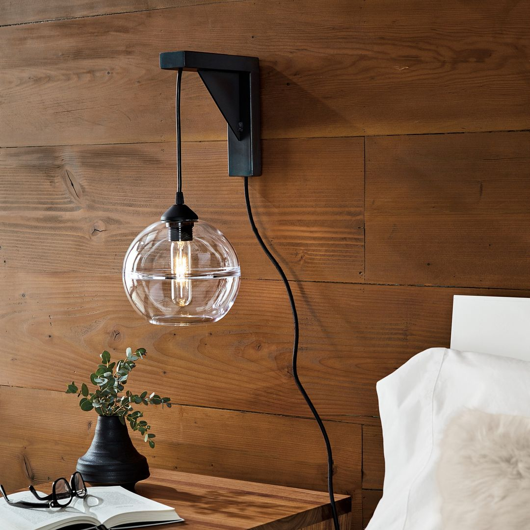 With Tandem You Can Hang A Pendant Anywhere You Wish Without Having To Hardwi Plug In Pendant Light Wall Mounted Lights Bedroom Hanging Pendant Lights Bedroom