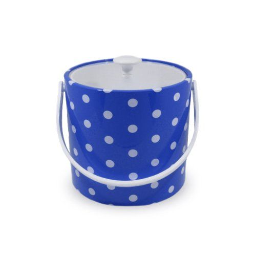 Mr Ice Bucket 7051d Polka Dots Ice Bucket 3quart Specter Blue This Is An Amazon Affiliate Link You Can Get More Detail Ice Bucket Wine Bucket Beverage Tub