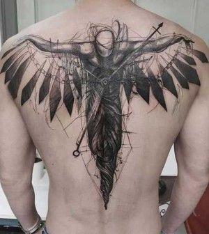 engel tattoos tattoo warrior tattoos back tattoos for. Black Bedroom Furniture Sets. Home Design Ideas