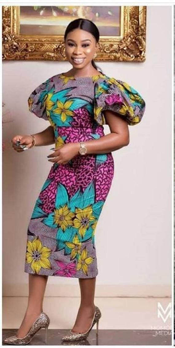 d79ba141a94d African print midi dress -African clothing -Ankara clothing Women clothing -African  dress-Women dres