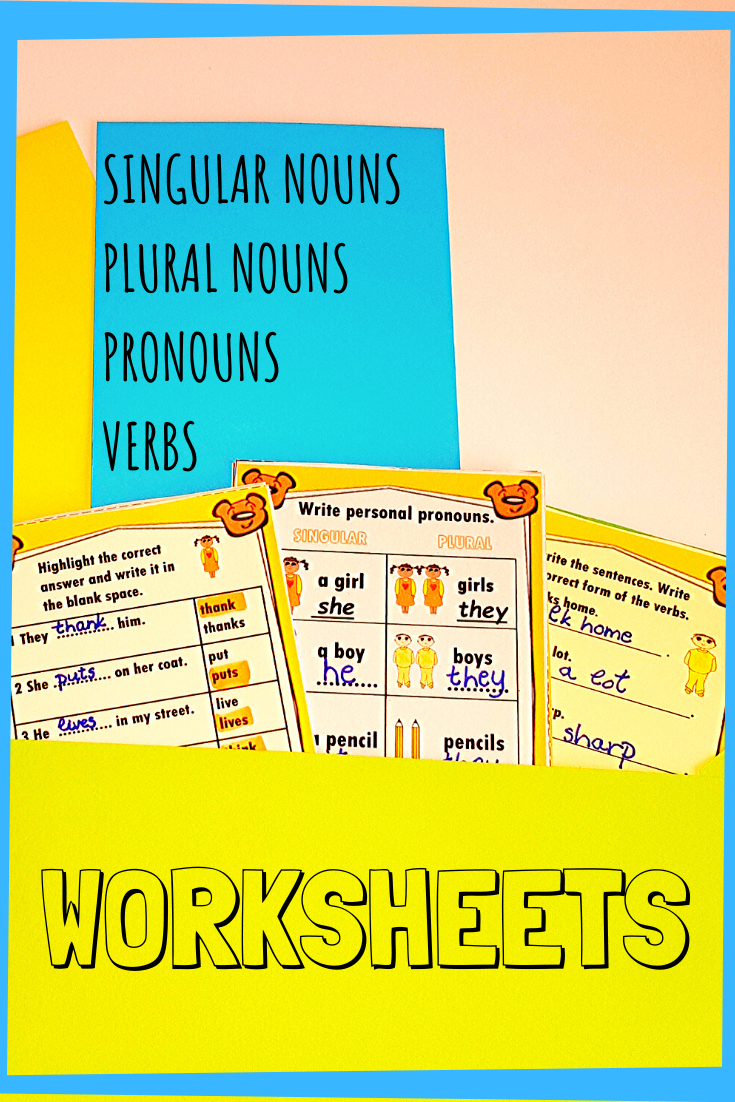 Ela Worksheets Nouns And Pronouns Subject And Verb Subject Verb Agreement [ 1102 x 735 Pixel ]
