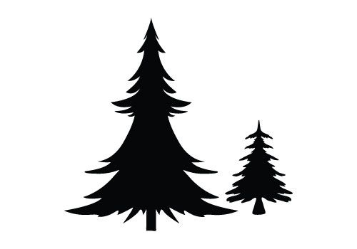 Pin By Kathy H On Graphics Christmas Tree Outline Christmas Tree Silhouette Tree Illustration