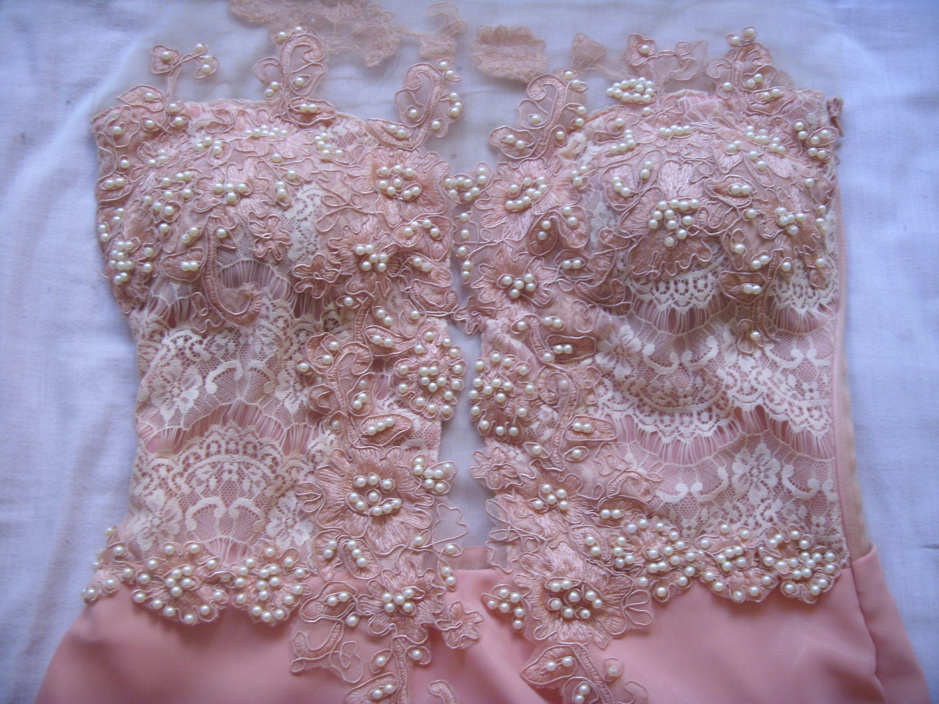 Como bordar um vestido de renda para festa