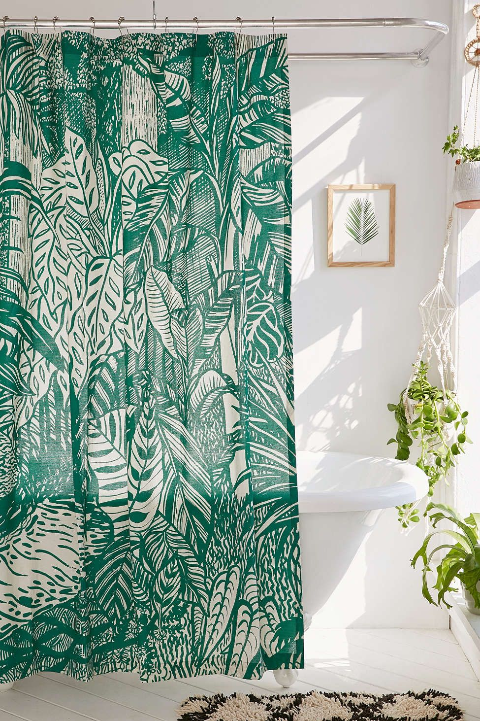 Palm shower curtain - Saskia Pomeroy Plants Shower Curtain