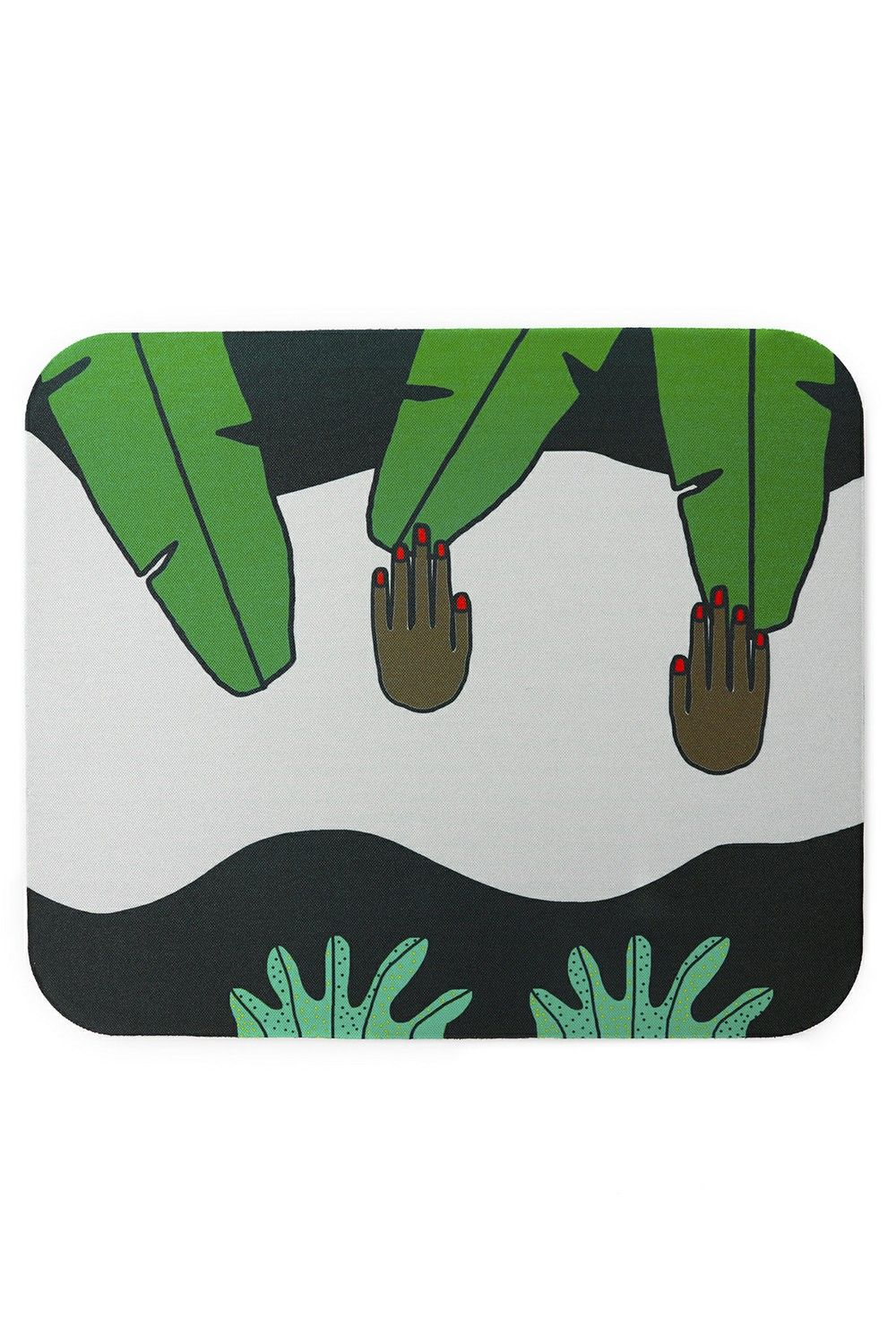 Hand Touching Plants Mouse Pad Via Bfgfshop Click On The