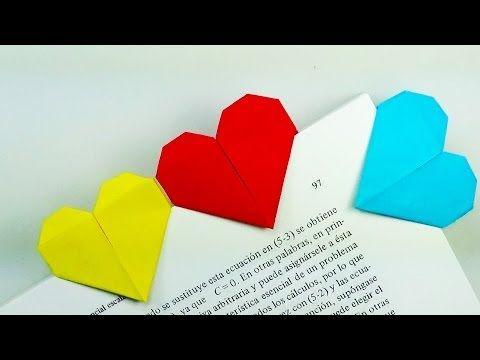 Marcapáginas Corazón - Origami! - YouTube