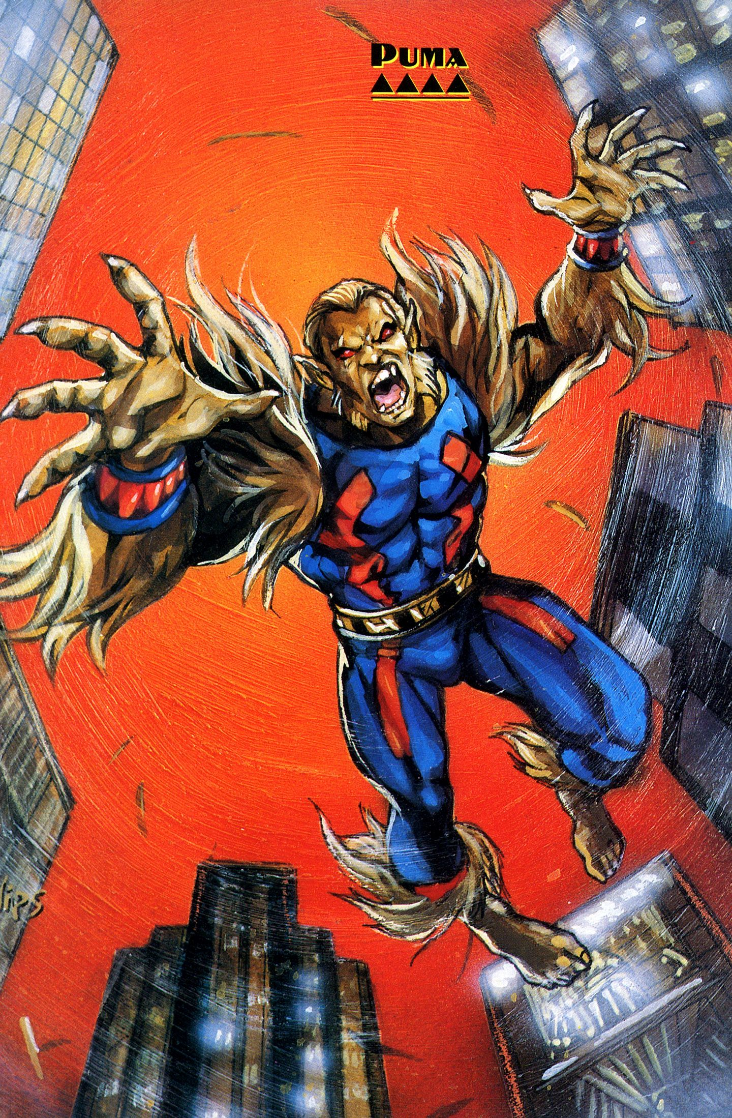 Marvel Comics Supervillain Puma By Joe Phillips Spiderman Nemesis