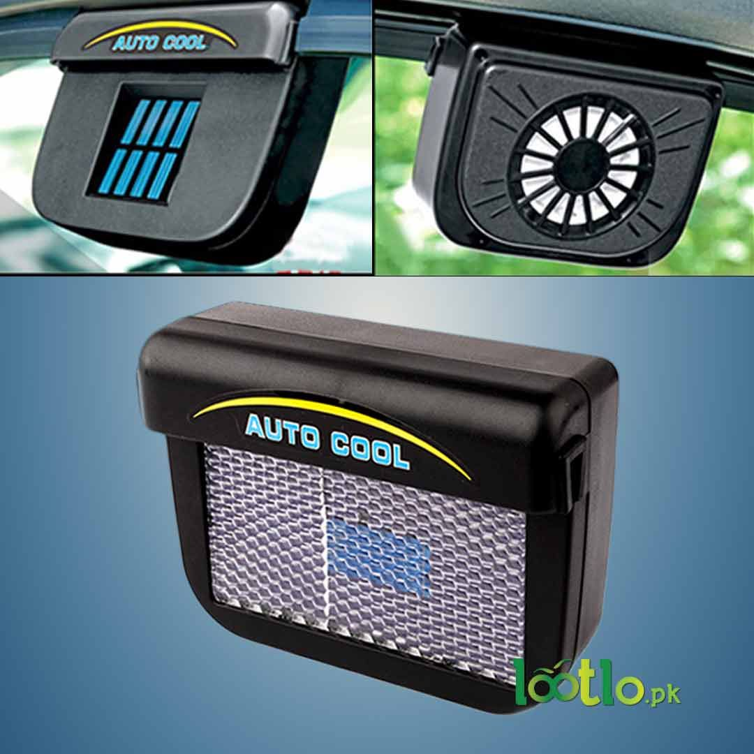 Solar Powered Car Air Vent Auto Cooling Fan Reduces Car