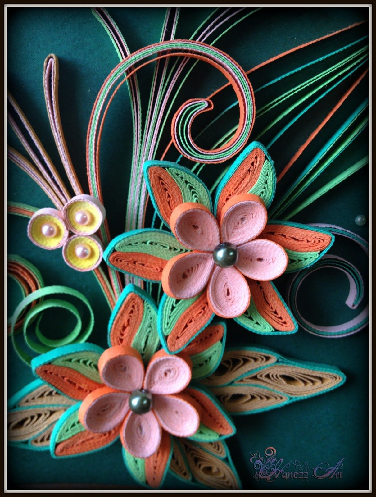 Hanezz Art Card & 3D Quilling Congratulations on your