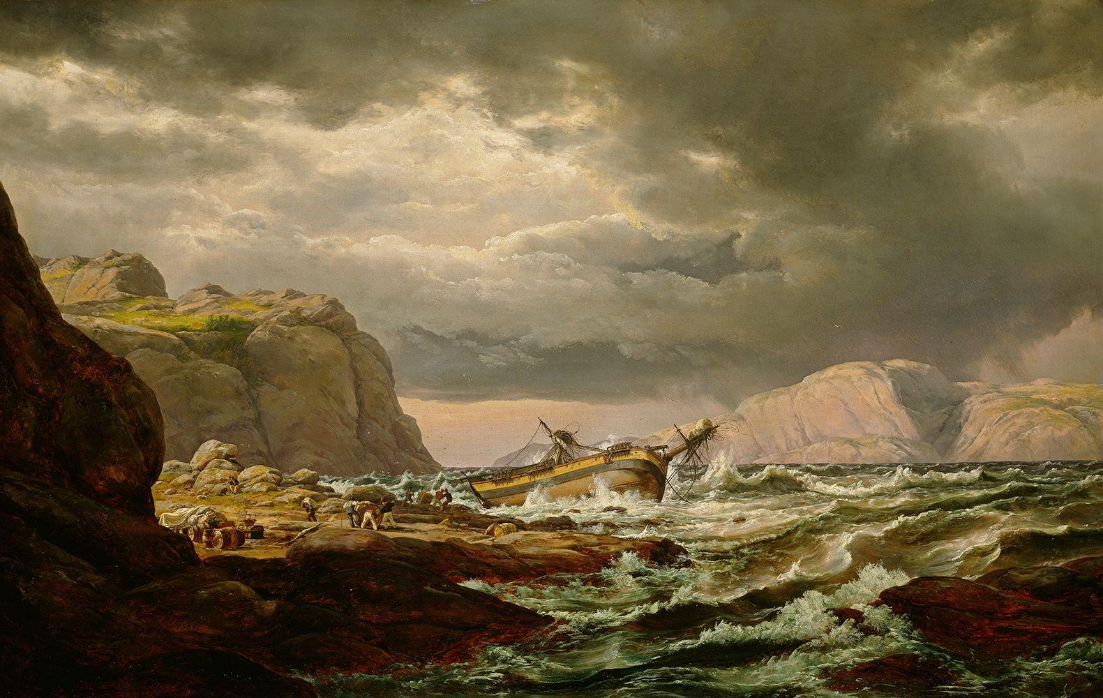 Maritime Bilder madonnalisa kunsthandel dahl johann christian clausen