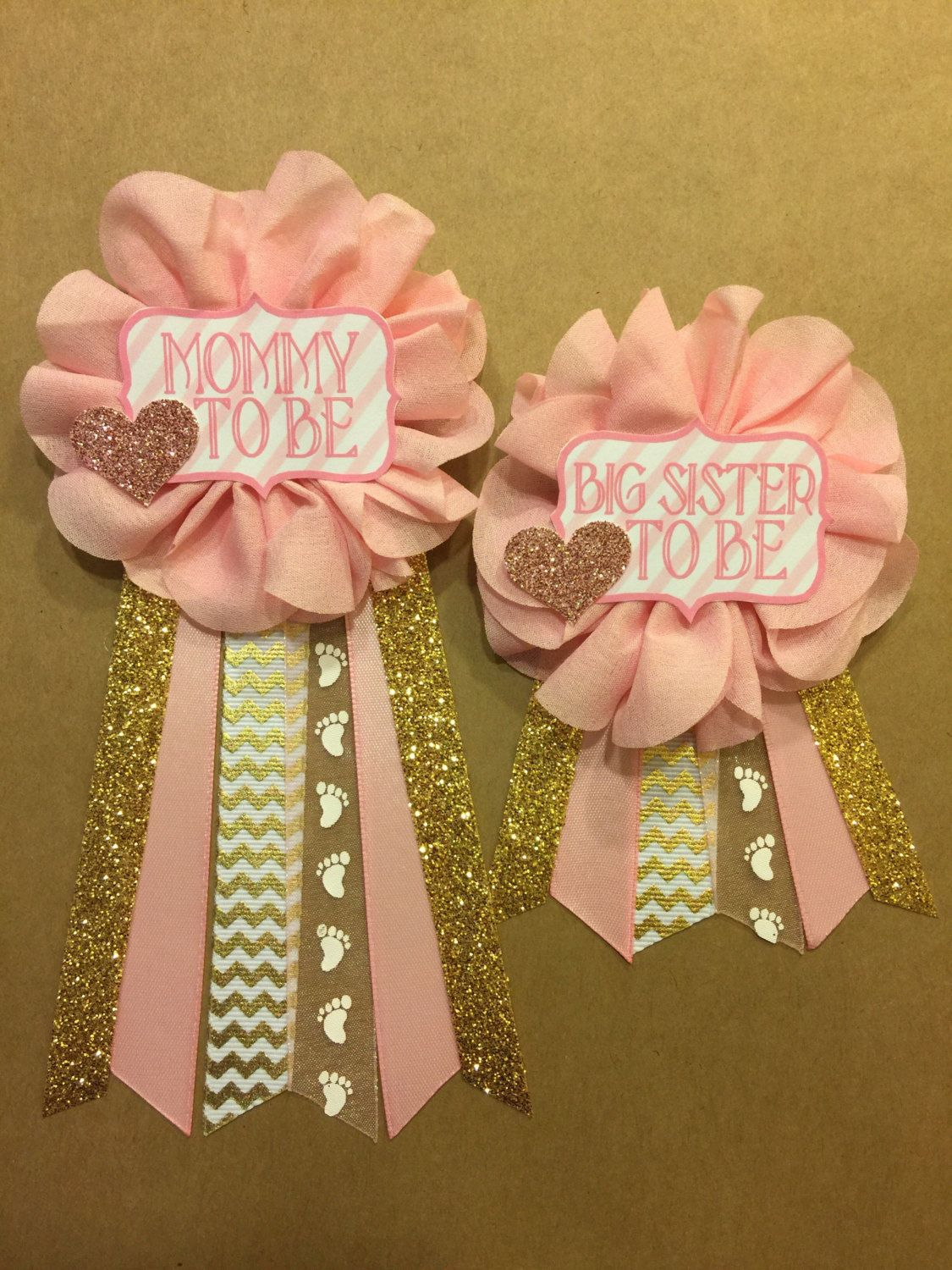 Baby Shower Pink And Gold Baby Shower Pin Mommy To Be Pin Flower