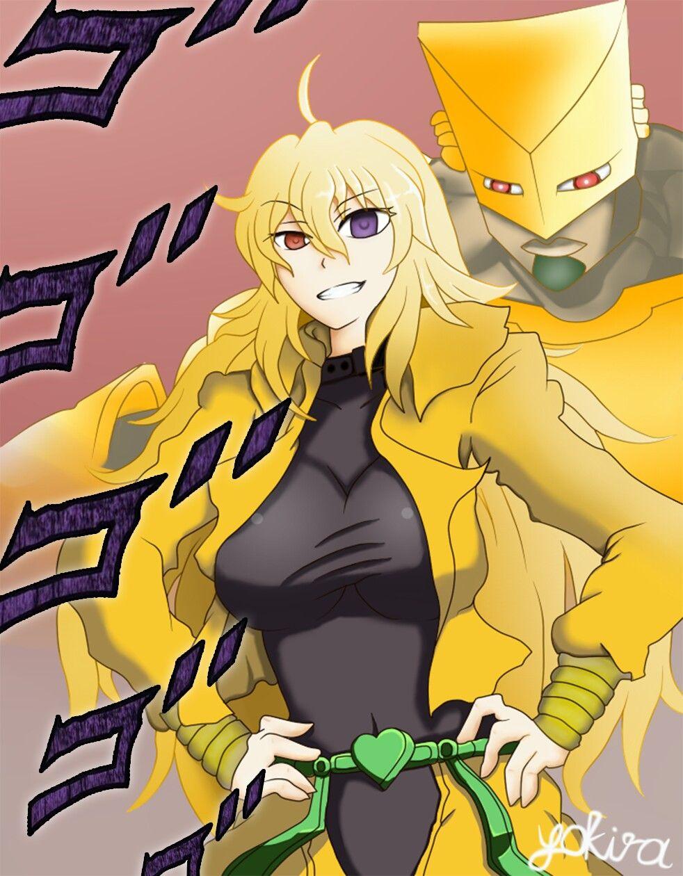 Yang as Dio from Jojo's Bizarre Adventure | RWBY | Rwby