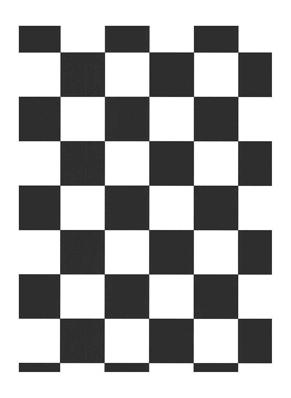 Large 3 1 2 Inch Black White Checks Wallpaper In2643 Checker
