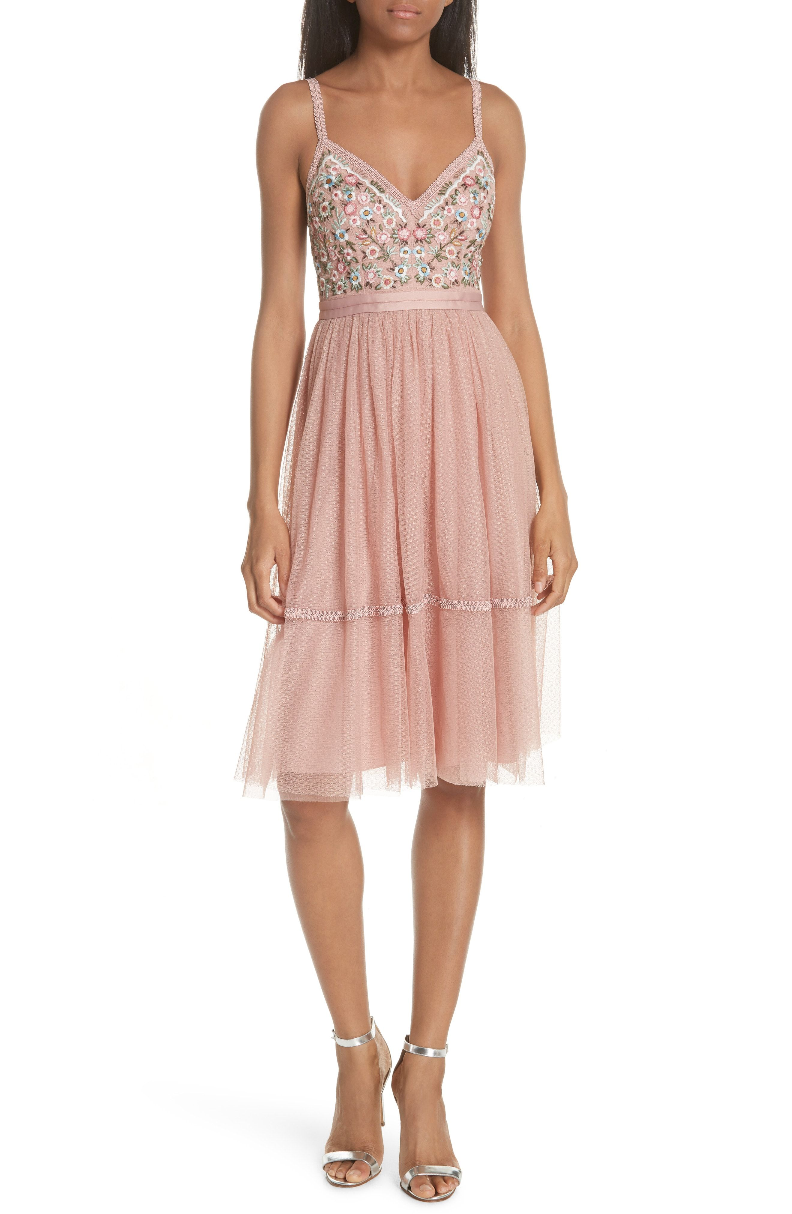 4140a3d8a8ca Buy Needle amp  Thread Embroidered Fit amp  Flare Dress online. Sku  oetr33631vvtk62496
