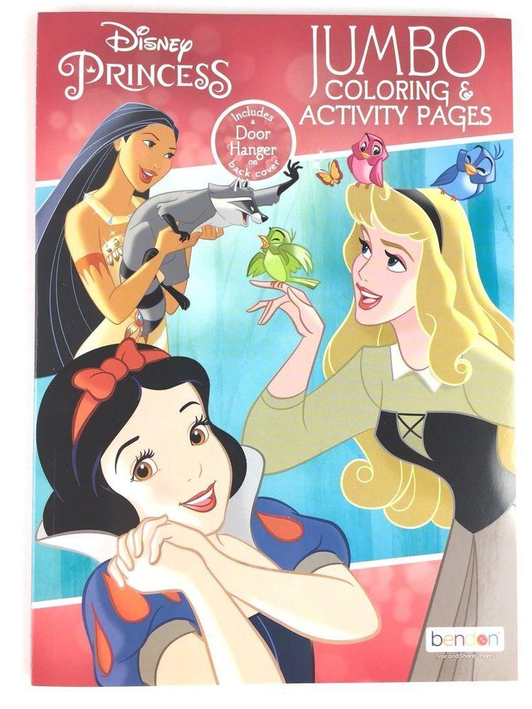 Disney Princess Jumbo Coloring Activity Pages Book Pocahantas Snow Whit Disney Princess Books Disney Princess Colors Disney