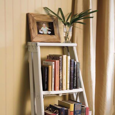 Decorating With Ladders 25 Creative Ways Ladder Decor Repurposed Ladders Ladder Bookshelf