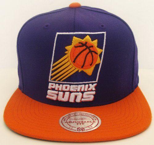 f313cbf68a0 Phoenix Suns XL Logo Mitchell   Ness Snapback Cap Hat Purple Orange -  29.20