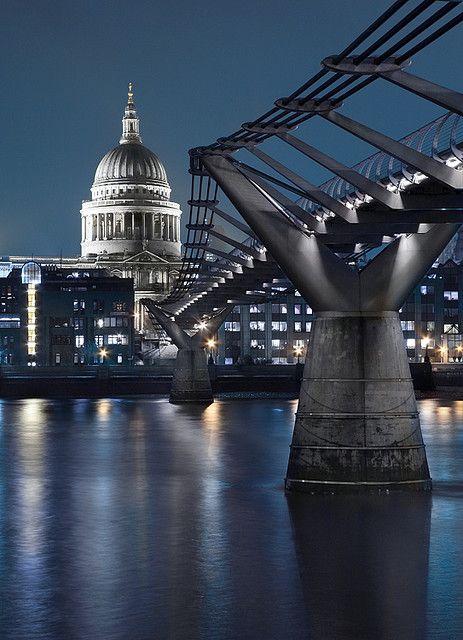 Millennium Bridge and St. Paul's, London