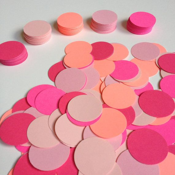 Pink Confetti   200 or 1200   Circle Confetti   Party Decor - confeti