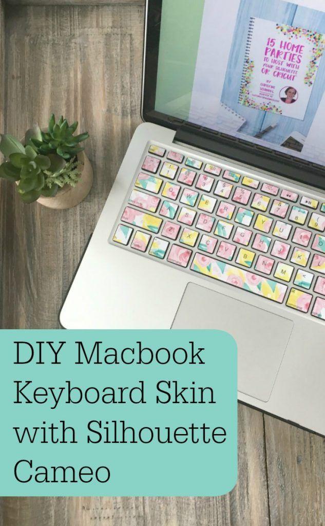 Diy Macbook Keyboard Skin With Silhouette Cameo Macbook Keyboard