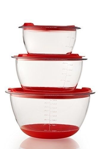 Plastic Bowls Measuring Bowl Set With Lids 1 5 3 Qt I Like This As Is Lideasurement Markings