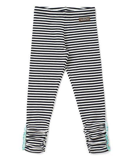 c14c8fc5726103 Matilda Jane Clothing Black & White Stripe Haystack Leggings - Toddler &  Girls | zulily