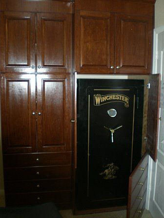 Gun Cabinet Made To Look Like Cabinets Safe Is Hidden
