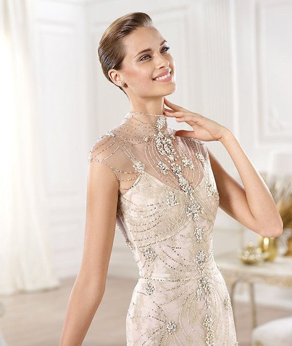 Elie Saab VINTAGE inspired Mermaid Silk Crystal by WeddingCandy ...
