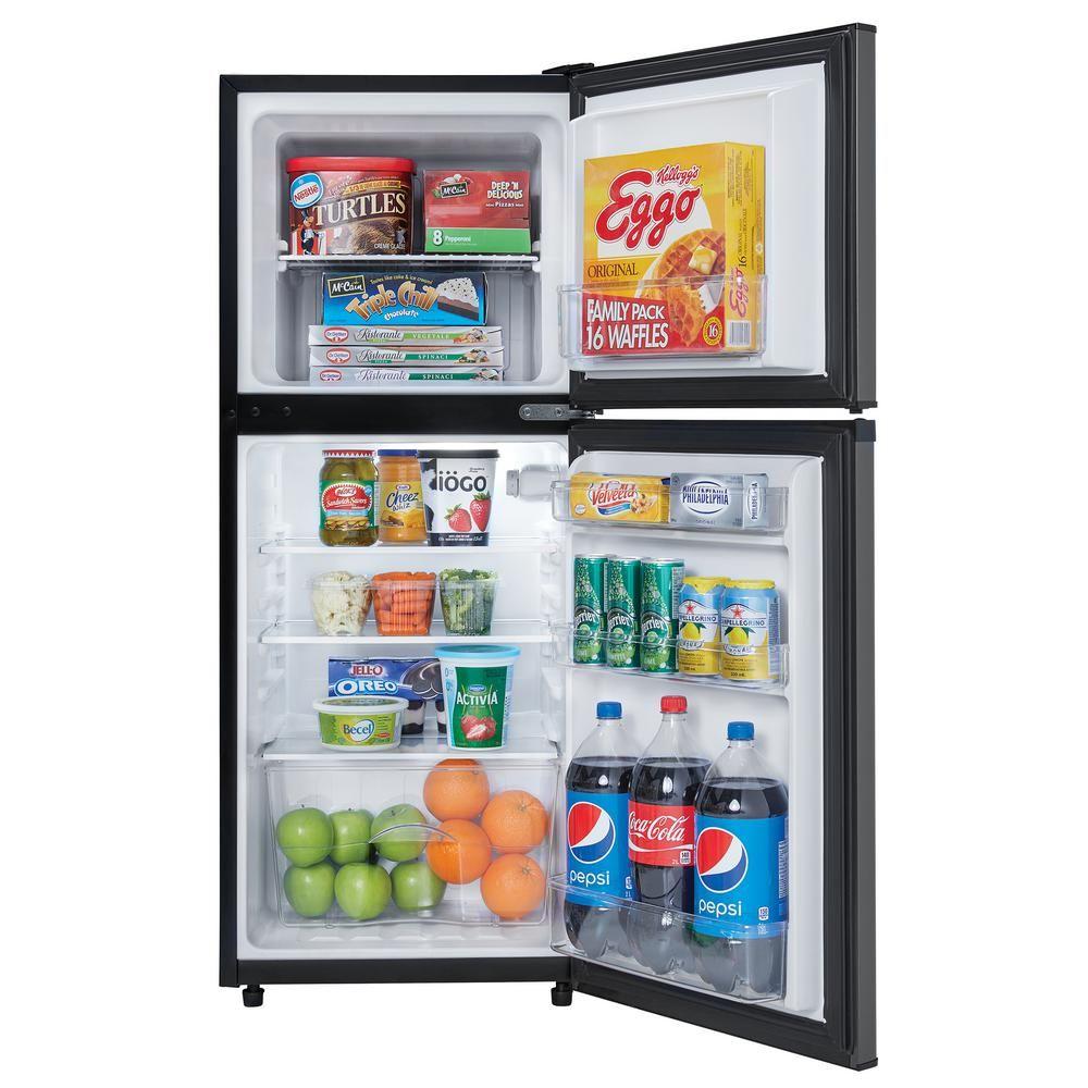 Danby 47 cu ft 2door mini fridge in black stainless
