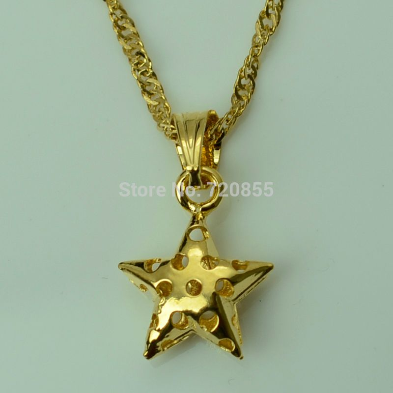 Anniyo Five-pointed Star Pendant & Chain Necklaces Gold Color for ...