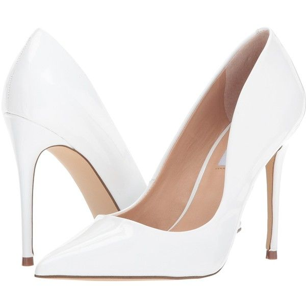 a404da30fad Steve Madden Daisie (White Patent) Women s Shoes ( 90) ❤ liked on Polyvore  featuring shoes