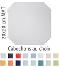 carrelage 20x20 blanc mat octogone avec cabochons cerame